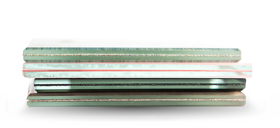 Stack of 4 Filters with Film laminated to substrate | American Polarizers, Inc.