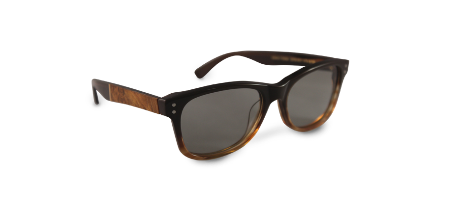 Example of 3D Glasses & Clip-Ons with dark wood sunglasses | American Polarizers, Inc.