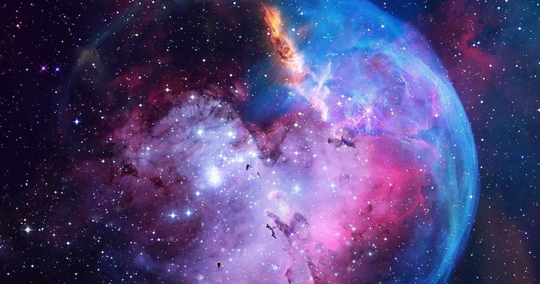 Beautiful Starry Galaxy Deep Purples and Blues | American Polarizers, Inc.