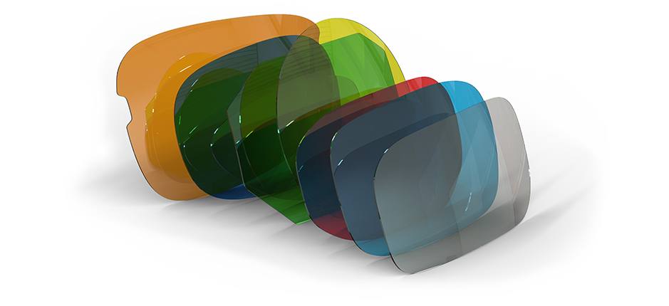 Glasses Lens array in Grey Blue Red Green Yellow Orange | American Polarizers, Inc.