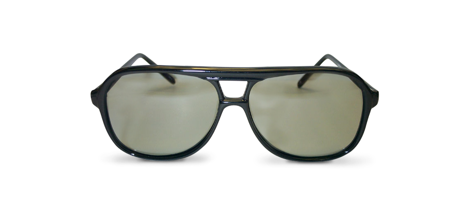 Example of a Passive 3D Filters & Eyewear piece, black tinted sunglasses | American Polarizers, Inc.
