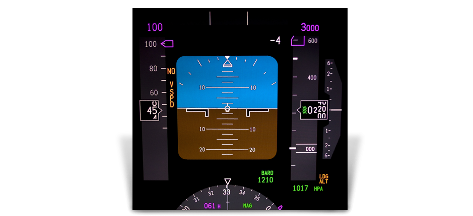 Example of Circular Polarizer Optical Filters on Aircraft Instrument Dashboard | American Polarizers, Inc.