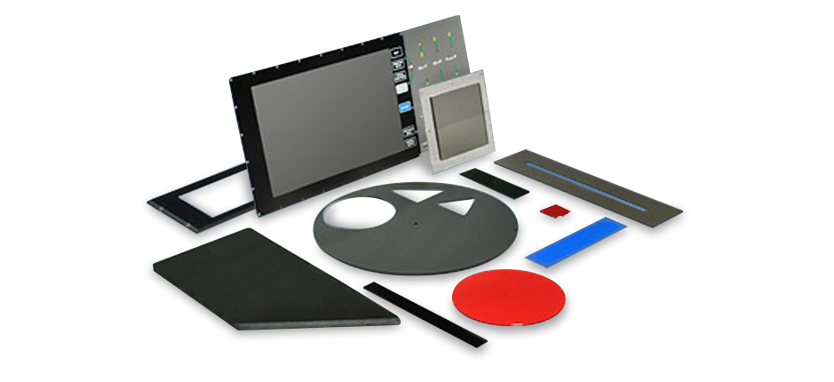 Cutout examples of Non-Polarized Optical Filters | American Polarizers, Inc.