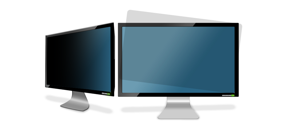 3M Light Control / Privacy Films (ACLF) on 2 computer monitors | American Polarizers, Inc.