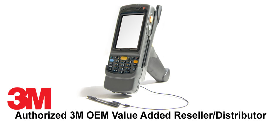 Handheld Barcode Scanner w/ caption 3M Authorized OEM Value Added Reseller | American Polarizers, Inc.